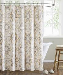 Echo Design Curtains Hudson Paisley Shower Curtain Neutral Echo Design