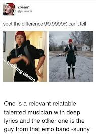 Emo Band Memes - 2beanl spot the difference 999999 can t tell one is a relevant
