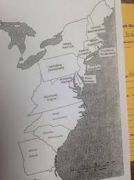 Thirteen Colonies Blank Map by Northpointe Intermediate