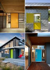 7 examples of colorful doors that brighten up these modern homes