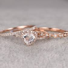 promise ring engagement ring wedding ring set promise engagement and wedding ring set best morganite promise
