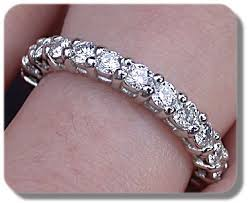 eternity ring finger discontinued jewelry auction eternity ring