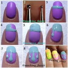 dripping nails tutorial tutorials pinterest nail marbling