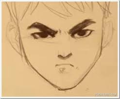 how to draw an angry face while smiling