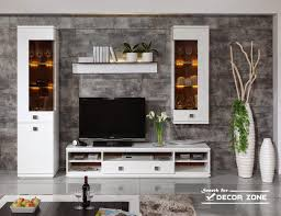fancy plush design interior for living room wall unit tv hall