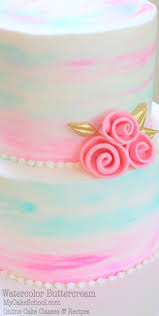 546 best buttercream cake designs images on pinterest