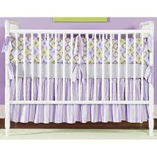 Baby Crib Decoration by Bedroom Purple And Lavender Crib Bedding Set On White Stained