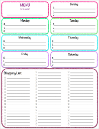 weekly family meal planner template free printables weekly meal planner grocery list the on my computer when the pdf file open to print it more than fills the page you might have to print it at 95 scale for it to fit