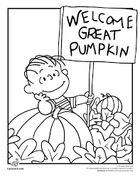 hallowen coloring pages it u0027s the great pumpkin charlie brown coloring pages linus waiting