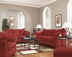 Signature By Ashley Sofa by Red Fabric Sofa With Full Sleeper By Ashley Signature Design