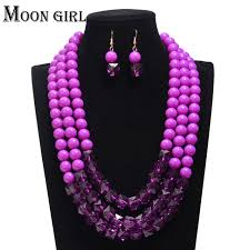 color beads necklace images 3 color african beads jewelry set fashion hand making wedding long jpg