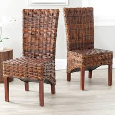 safavieh pembrooke wicker dining side chairs natural set of 2