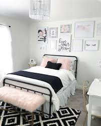 black and blush pink girls room decor black and white teenage