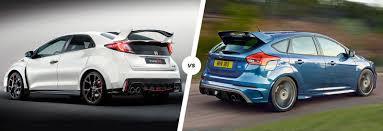 honda civic type r fuel consumption honda civic type r vs ford focus rs carwow