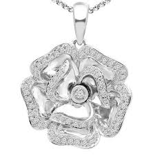 white gold flower necklace images Diamond flower necklace white gold majesty diamonds jpg