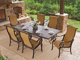 cast aluminum dining table athena sling 7 pc cast aluminum dining set chair king