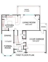 Two Storey Floor Plans First Floor Plan House Plan 2414 212 Hsd Brick Traditional