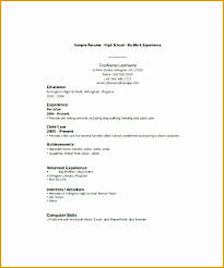 Resume Template For Students With No Experience 8 Resume Sample For High Students With No Experience Free