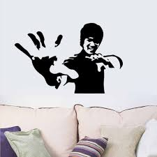 vinyl art wall stickers bruce lee banksy vinyl art wall stickers bruce lee