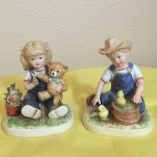 denim days home interior homco denim days 1528 pair debbie danny sleds 1985 home