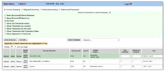 Chemical Inventory Template Excel by Ehs Assistant Chemical Inventory User Guide Environmental