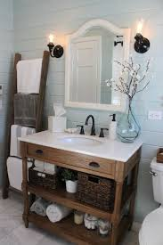 simple delightful bathroom vanity with farmhouse sink regarding