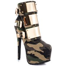 womens brown motorcycle boots designer camouflage platform high heel women motorcycle boots