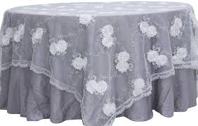 Lace Table Overlays Vintage Veil Embroidery 90