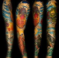 religious sleeve design of tattoosdesign of tattoos