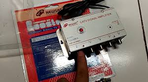 penguat signal tv booster catv amplifier newsat output 4 tv youtube
