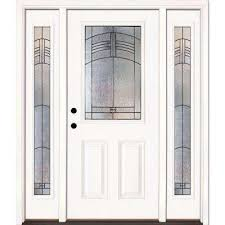 Frosted Glass Exterior Doors by Modern Front Doors Exterior Doors The Home Depot