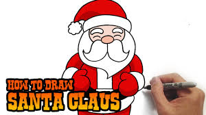 how to draw santa claus simple and easy lesson youtube