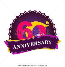 celebrating 60 years birthday 30 years anniversary celebration logo design stock vector