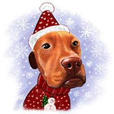 printable customized christmas caricatures of pets photo to