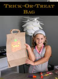 halloween treat bag craft turn a brown paper bag into a trick or treat bag