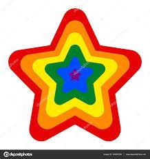 Rainbow Pride Flag Rainbow Pride Flag Lgbt Movement In Star Shape U2014 Stock Vector