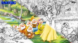 snow white and the seven dwarfs coloring book for kids youtube
