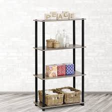 furinno turn n tube beech open bookcase 99557be wh the home depot