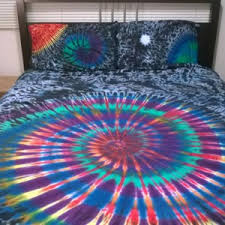 Tie Dye Bed Set Simple Bedroom With Color Tie Dye Bedding Ideas Color