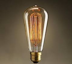 Amber Glass Pendant Lights by Edison Vintage Bulbs 60w Antique Incandescent Glass Light Bulb