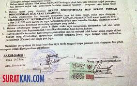 contoh surat perjanjian jual beli tanah doc suratkan
