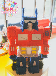 optimus prime pinata gk moments piñatas kids party planner established in netherlands