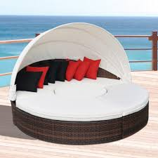 Outdoor Wicker Daybed Outdoor Daybed With Canopy For More Excessive Relaxation Ruchi