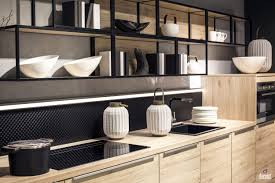 modern kitchen oven floating open shelves small modern kitchen white cabinets top