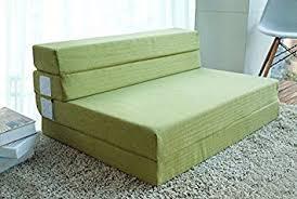 amazon com merax 4 inch memory foam folding mattress and sofa