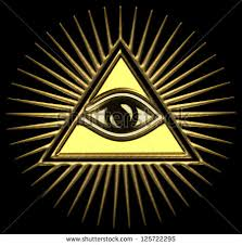 all seeing eye god gold pyramid stock photo 125722295