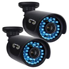 Interior Home Surveillance Cameras by Black Owl Cam Ahd7 1 Megapixel Surveillance Camera 2 Pack