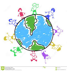 doodle color kids around the world stock vector image 92655624
