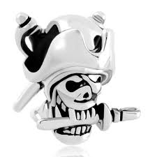 halloween skull pirates of the caribbean captain jack bead charms