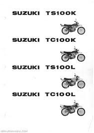 1973 1974 suzuki ts100 tc100 parts manual